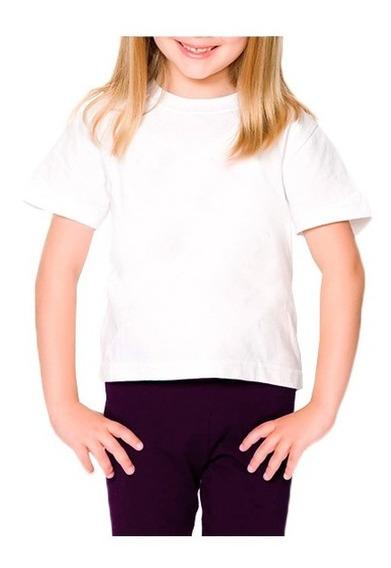 10 Camisetas Infantis Brancas Pv Malha Fria 2/4/6/8 Anos