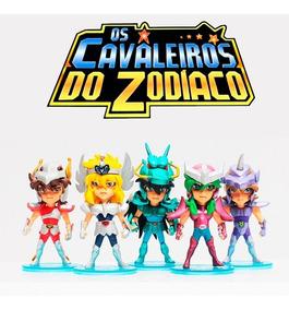 Kit 5 Miniaturas Cavaleiros Do Zodíaco Para Coleção
