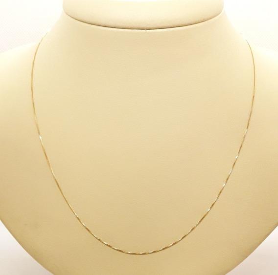 Corrente Ouro 18k 750 Veneziana 45cm 1,15g