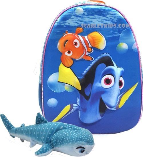 Mochila Espalda Dory Nemo 12p + Peluche Bruce Original