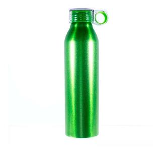 Cilindro Aluminio Botella Termo Para Agua Plastico Tapa