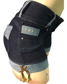 Bermuda Jeans Curto Feminino Cintura Alta Super Barato