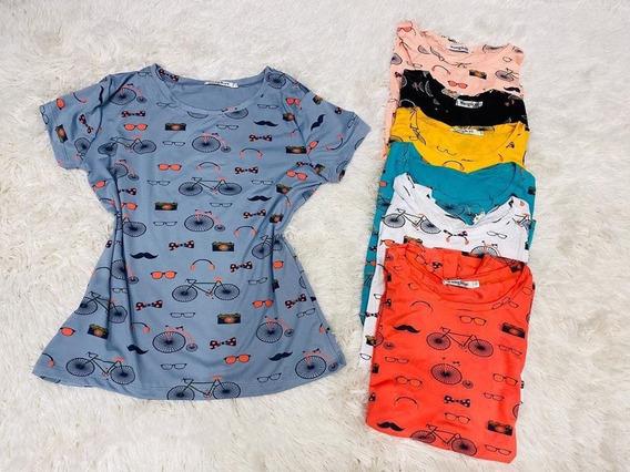 T Shirt Blusinha Feminina Atacado Revenda Kit 10 Peca