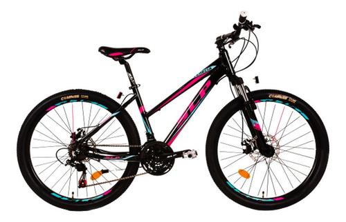 Mountain bike SLP Venecia R26 21v frenos de disco mecánico cambios Shimano Tourney TZ500 color negro
