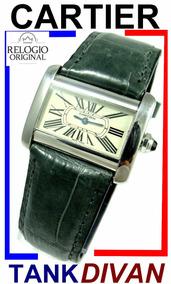 Luxuosíssimo Cartier Tank Divan Aço Inox Ref. 2599!