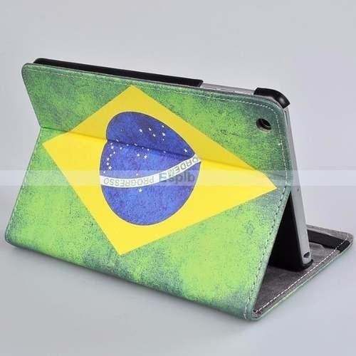 10 Capa iPad Mini 1 2 3 4 Bandeira Brasil Eua Usa Inglaterra
