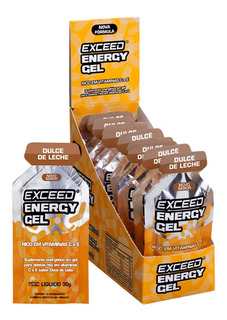 Exceed Energy Gel Dulce De Leche Caixa 10 Sachês