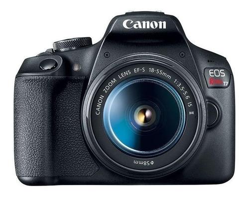Imagem 1 de 4 de Canon EOS Rebel T7 18-55mm IS STM Kit DSLR cor  preto