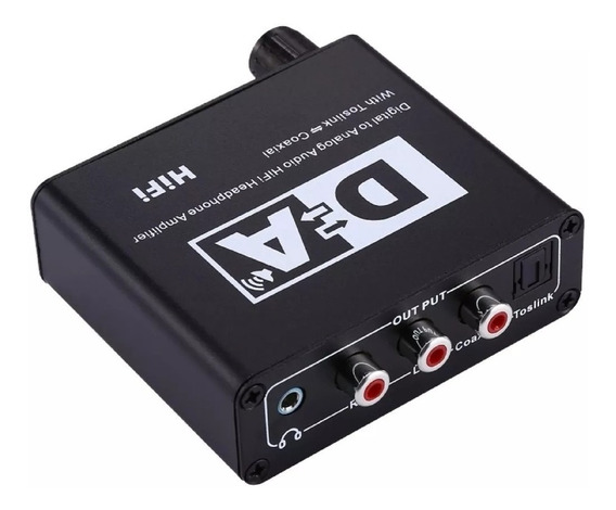 Conversor Audio Optico Regulagem Volume Digital P/ Analógico