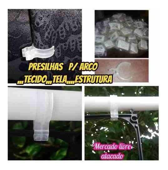 Presilha Plastica Para Estrutura Tecidos Decoração160 Unidad