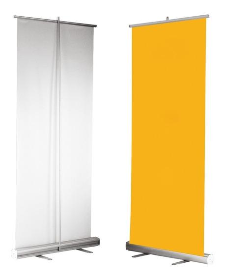 Roll Up Banner Display Reforzado 85x200 Cm De Aluminio