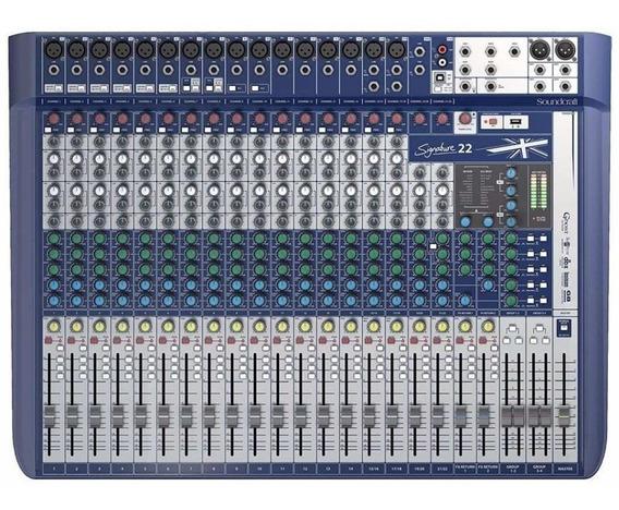 Mesa De Som 22 Canais Signature 22 Com Usb Soundcraft