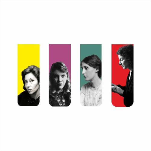 Imagem 1 de 7 de Marcador De Página Magnético Kit 4 Escritoras Mulheres Livro