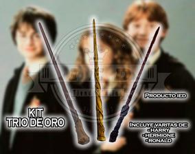 Varitas Set Harry Potter Ronald Weasley Y Hermione Granger