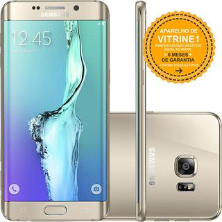 Samsung Galaxy S6 Edge Plus 32gb Single Dourado Vitrine 1