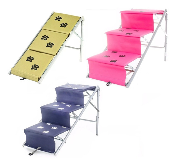 Escada Para Cães Cachorro Dobravel Rampa Tubline Pet