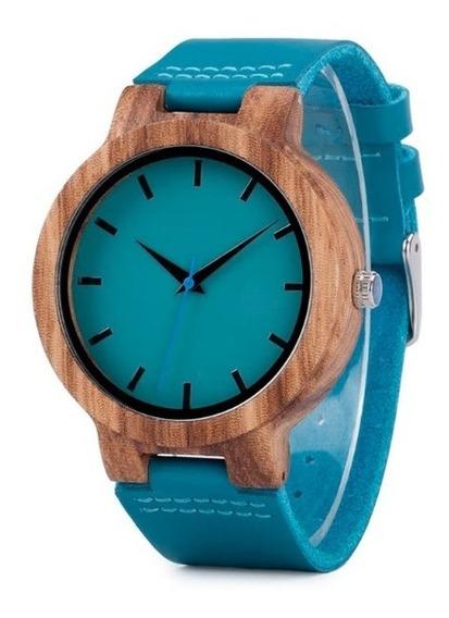 Relógio Masculino Madeira C28 Analógico Bobo Bird Verde