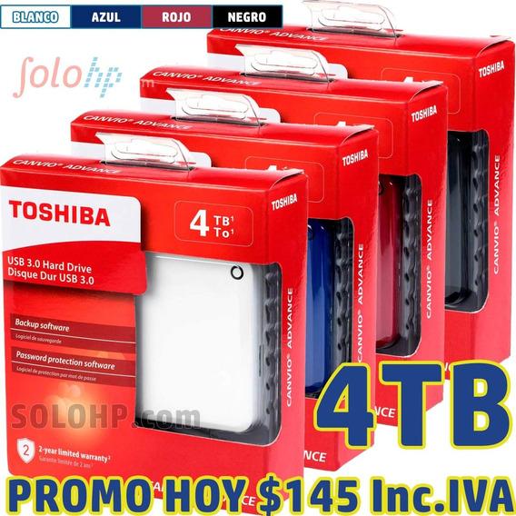 P R O M O..... Disco Duro Externo 4tb Toshiba Canvio Advance