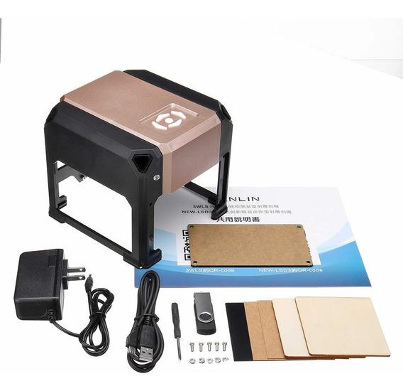 Mini Gravadora Impressora Cnc Laser 3000mw + Brinde