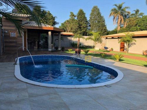 Imagem 1 de 21 de Chácara Com 4 Dormitórios À Venda, 1250 M² Por R$ 900.000,00 - Chácara Santa Paula - Limeira/sp - Ch0043