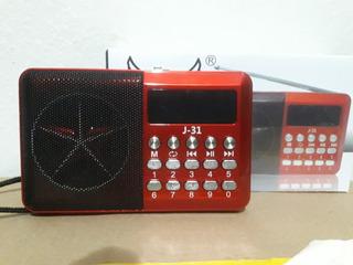 Mini Rádio Relógio Fm Com Usb E Sd Card. Novo Lacrado.