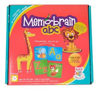 Juego De Mesa Didáctico Memo Brain Abc Memorama