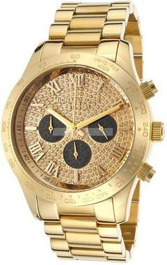 Relógio Michael Kors Mk5830 Layton Dourado Com Pedras