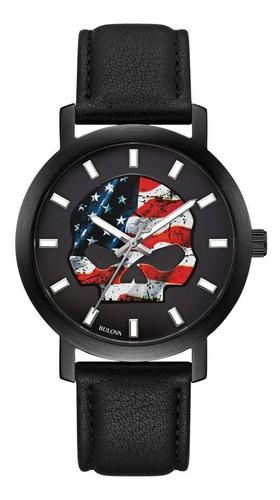 Imagen 1 de 8 de Reloj Harley Davidson American Flag Original Hombre