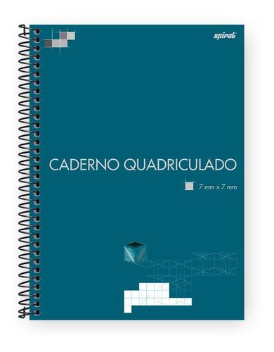 Caderno Universitário 96fls Quadriculado 7x7mm Pt 1 Un