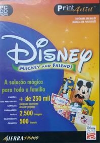 Print Artist Disney Mickey And Friends (lacrado)