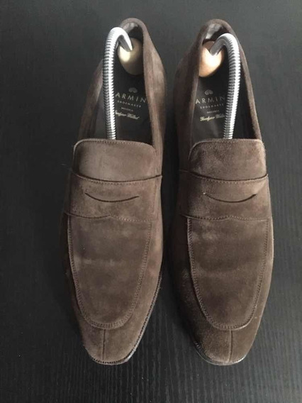 Zapatos Mocasines Carmina De Gamuza 8.5 Uk ( 42.5 )