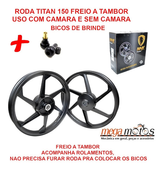 Roda Liga Leve Titan 150 Ks/es 05 A 13 Mhx Sem Camara +bicos