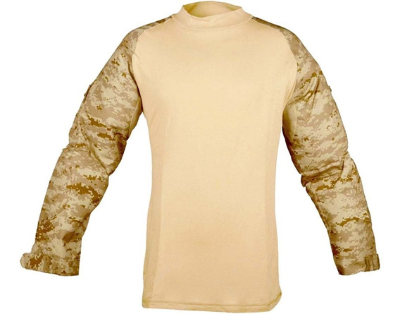 Remera Tactica Multicam Corte Americano Digital Desert