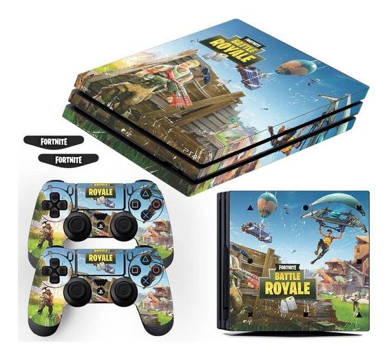 Adesivo Skin Playstation 4 Pro Fortnite