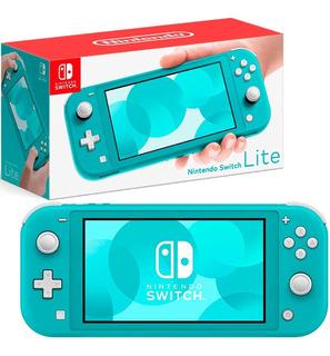 Consola Nintendo Switch Lite 32gb Turquesa Hdh-s-bazaa