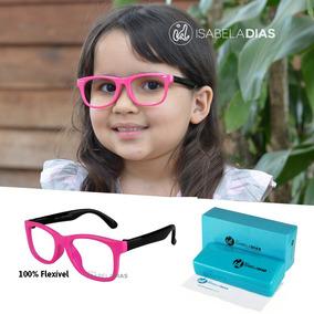 Armação Óculos Grau Flexível Infantil Sem Grau 4-10 Anos 227