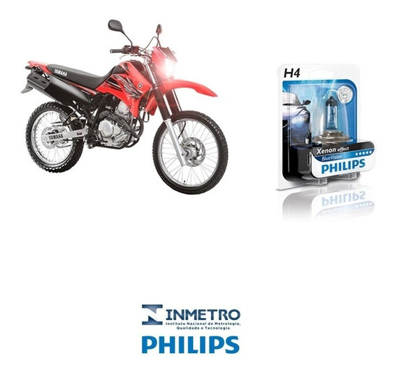 Lâmpada Moto Philips H4 P/ Honda Xr250 Tornado Efeito-xenon