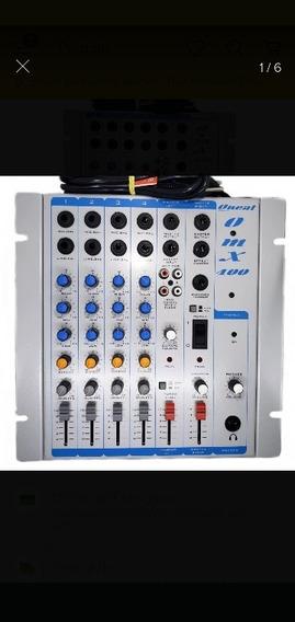 Mesa De Som Oneal 4 Canais Pré-escuta Equalização Omx400
