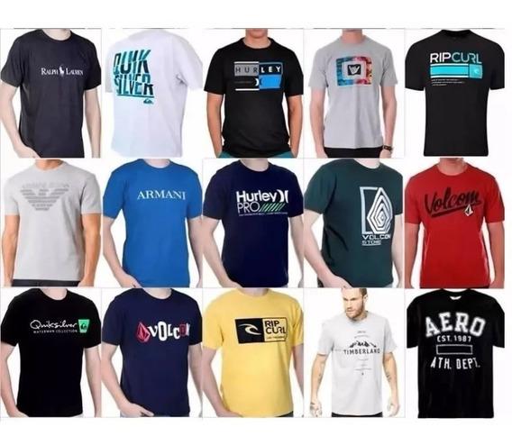 Kit C/ 10 Camisetas Camisas Masculinas Atacado Revenda