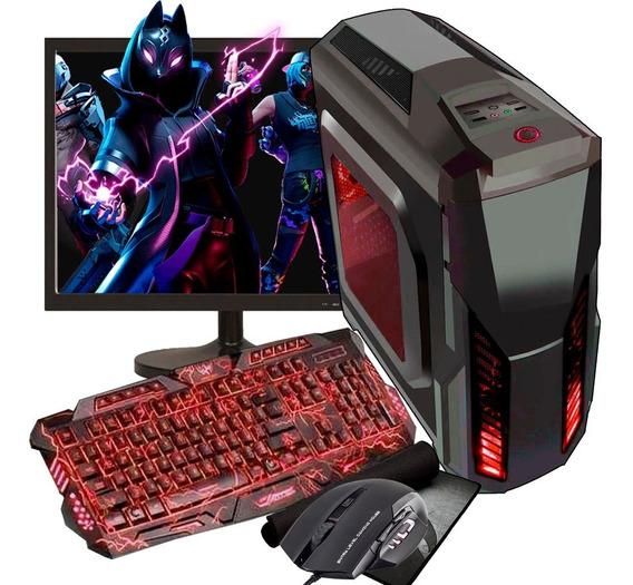 Pc Gamer Completo Barato 500 Gb + Monitor Freefire Black Fry