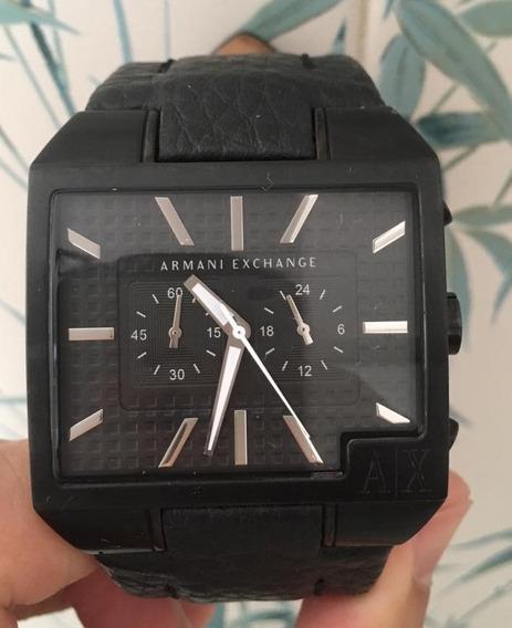 Relógio Armani Exchange Ax2035 Pulseira Couro