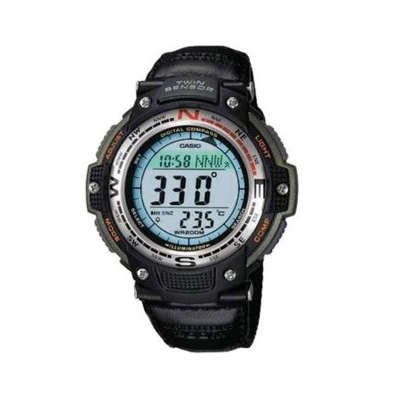 Para Caballero Reloj Casio Outgear Sgw100 Lona Brújula Term