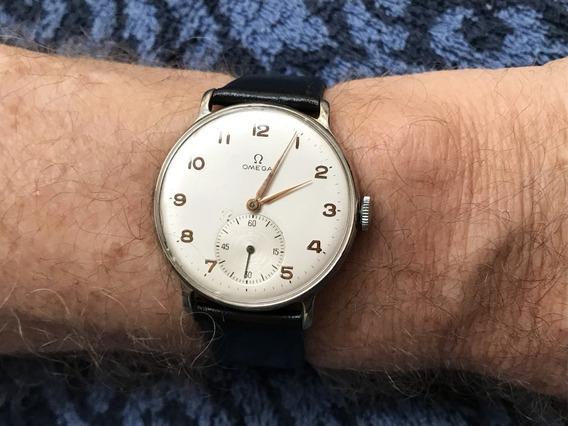 Relógio Omega Grandão 37mm S/ Contar Coroa, Cal 30t2 De 1947