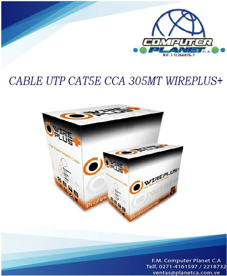 Bobina Cable Utp Cat5e 4p , Wireplus 305 Mts. Tienda Física