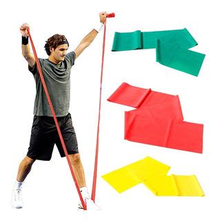 Bandas Elásticas Kit X3 Amarillo Rojo Verde Niveles 1 2 Y 3