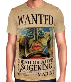 Camisas Camisetas De Animes One Piece Wanted Sogeking Ussop