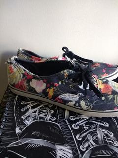 Vans Floral Negro (24cm)
