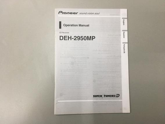 Manual Radio Pioneer Operação - Deh- 2950 Mp