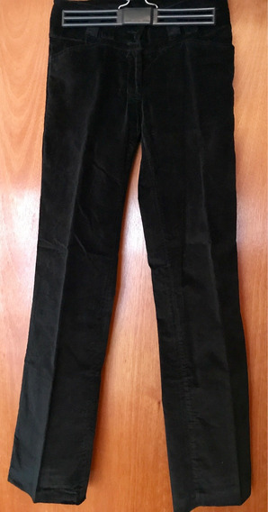Pantalón Gamuzado Negro Recto