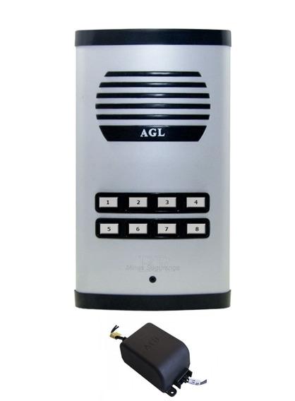Porteiro Eletrônico Coletivo Predial 8 Pontos Agl Com Fonte